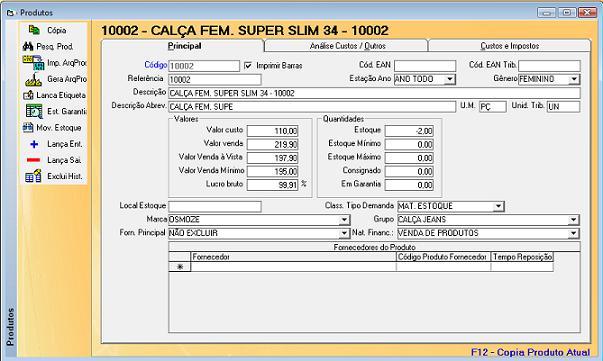 Software Loja de Roupas - Cadastro de Produtos f18860550e